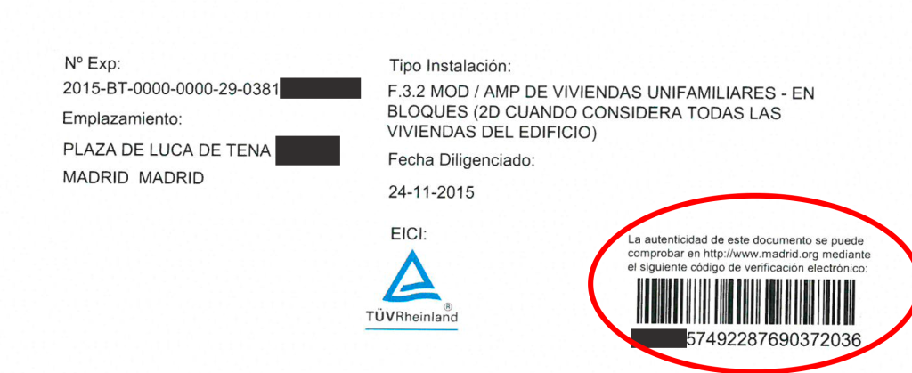 boletin electrico falso